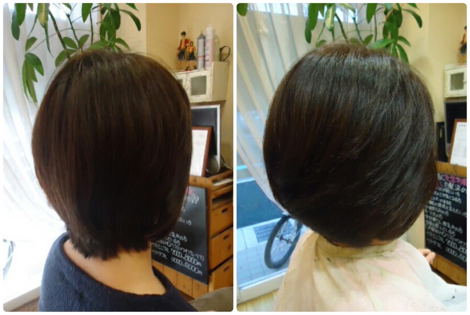 絶壁ハチ張りの直毛っと言う名のくせ毛をカットで修正する神戸くせ毛専門美容室