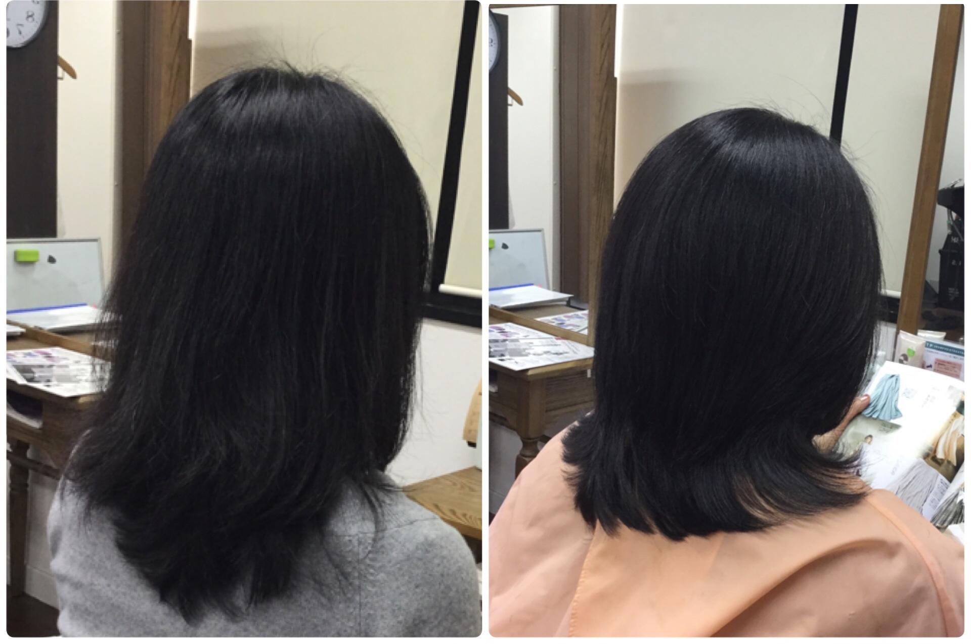 I縮毛矯正以外で【広がる多毛おさまり】を良くするすきハサミを使わないカット神戸岡本くせ毛専門美容室
