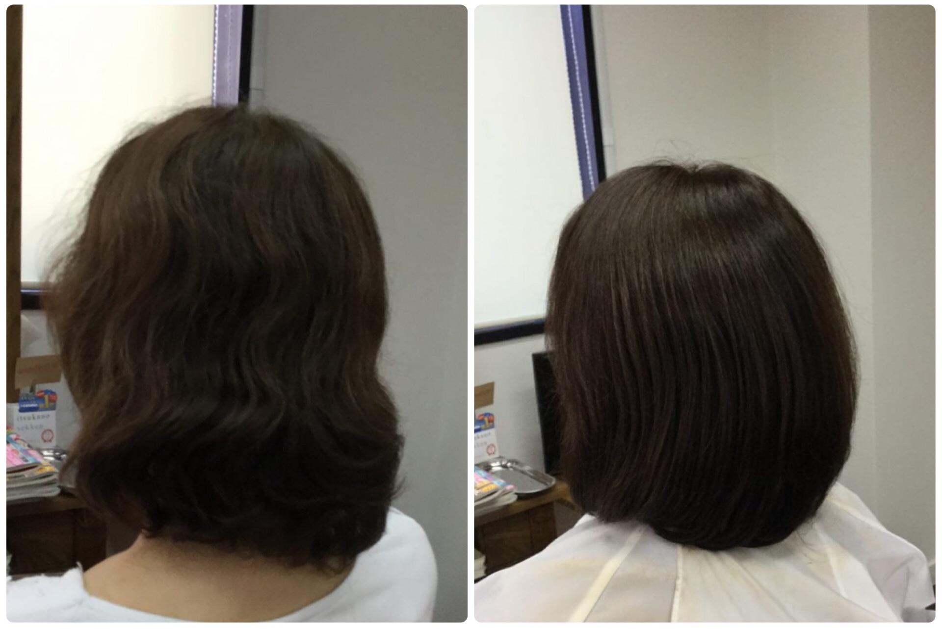 I50代くせ毛加齢毛でも【大人ボブ】はソギハサミを使わないカットツヤのある華麗毛に神戸くせ毛専門美容室アバディ