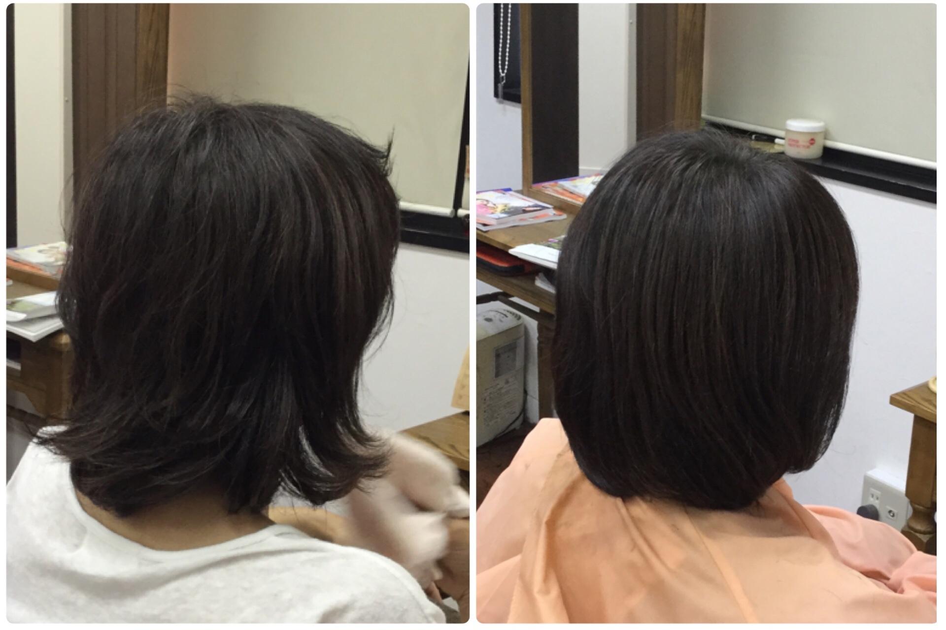 Iくせ毛スカスカまとまらない髪に【すきハサミを使わないカット】で解決する大人女性のためのくせ毛専門美容室アバディ