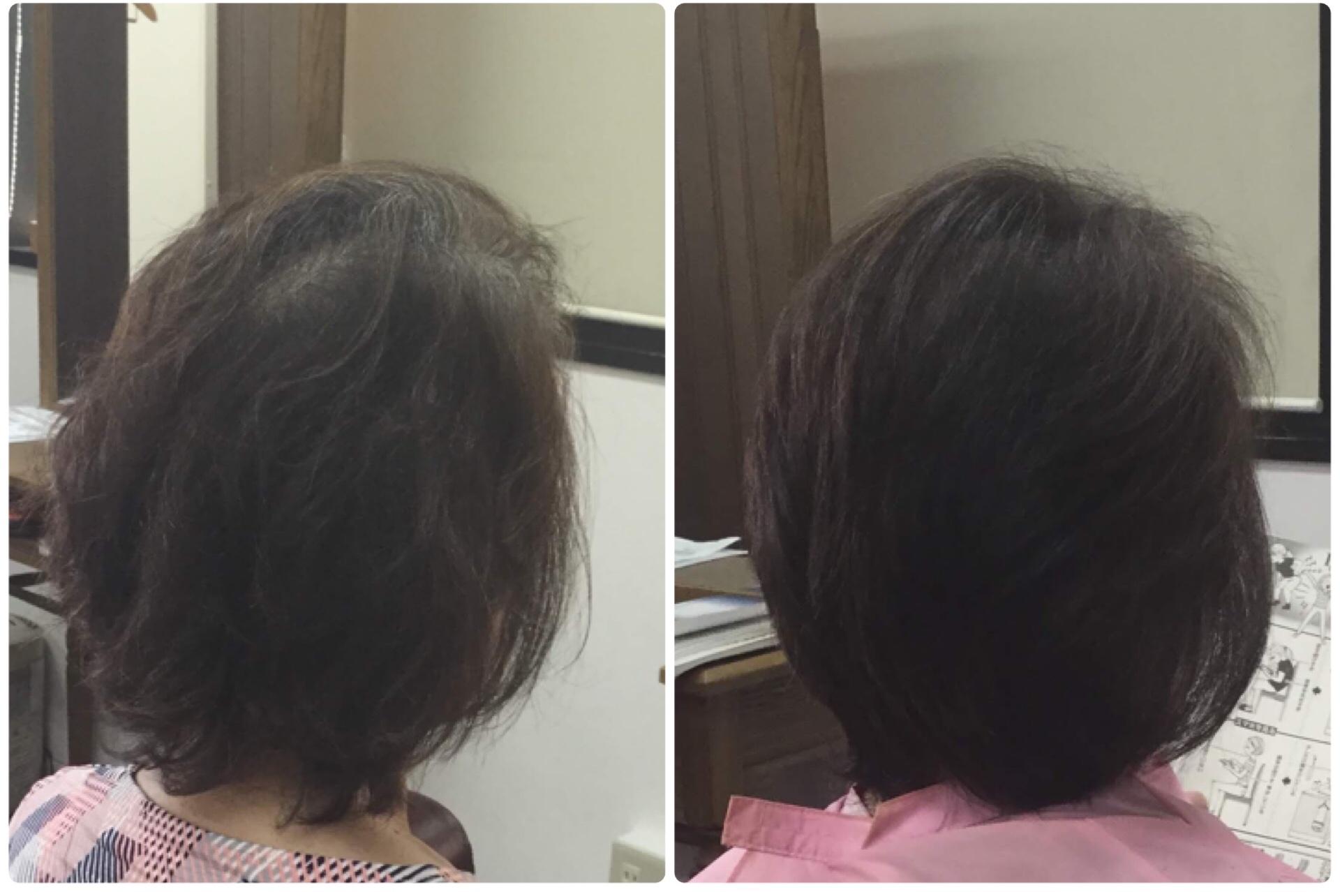 I50代の大人女性の髪に地肌に合わせたカットと純国産100%沖縄RQ琉球ヘナを神戸くせ毛専門美容室アバディ