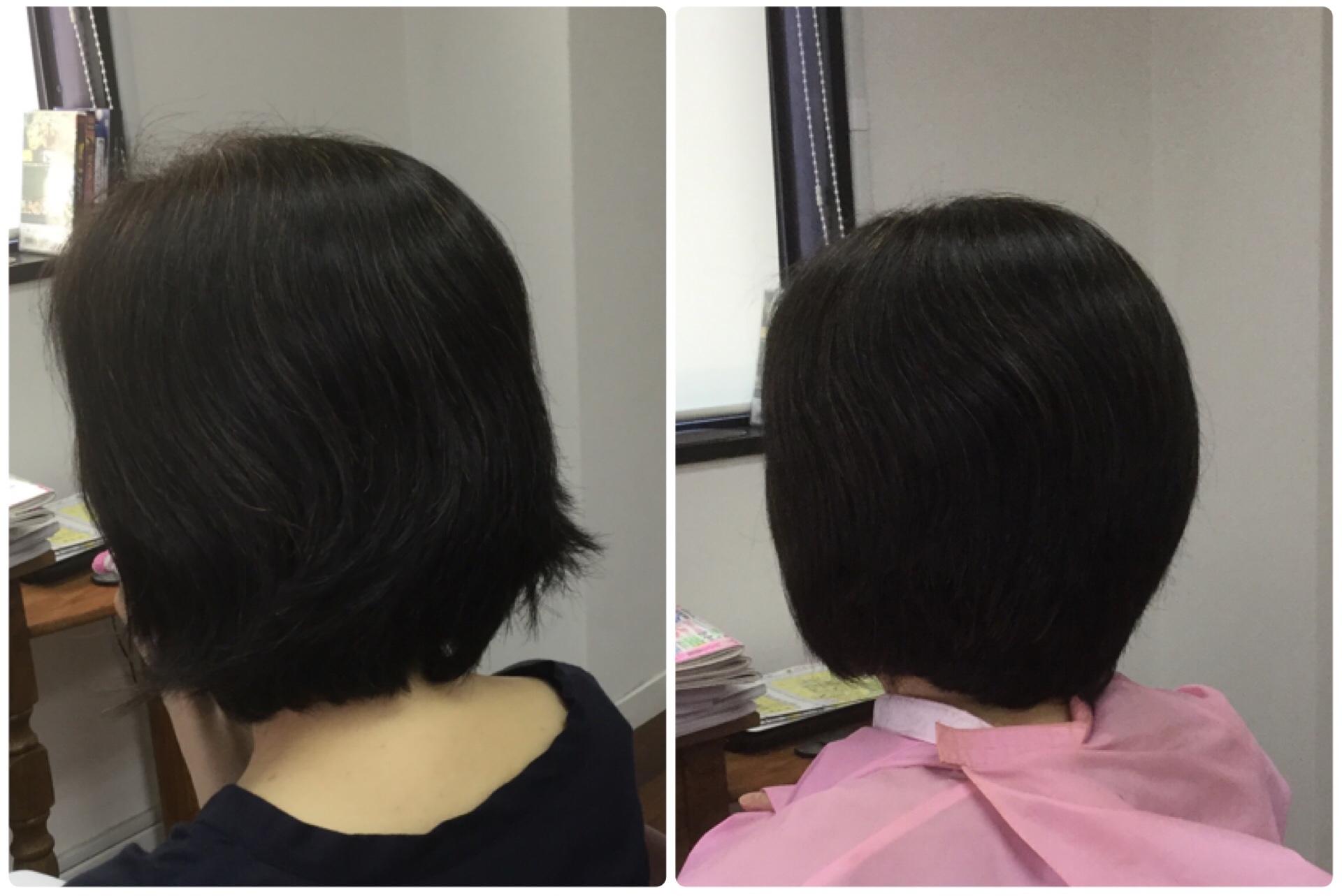 Iくせ毛が大きくうねるハネるからすきハサミを使わないカット!神戸くせ毛専門美容室アバディ