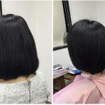 髪が多い大人女性に【簡単ボブ】は骨格補正カットと国産天然100%ヘナで決まり!