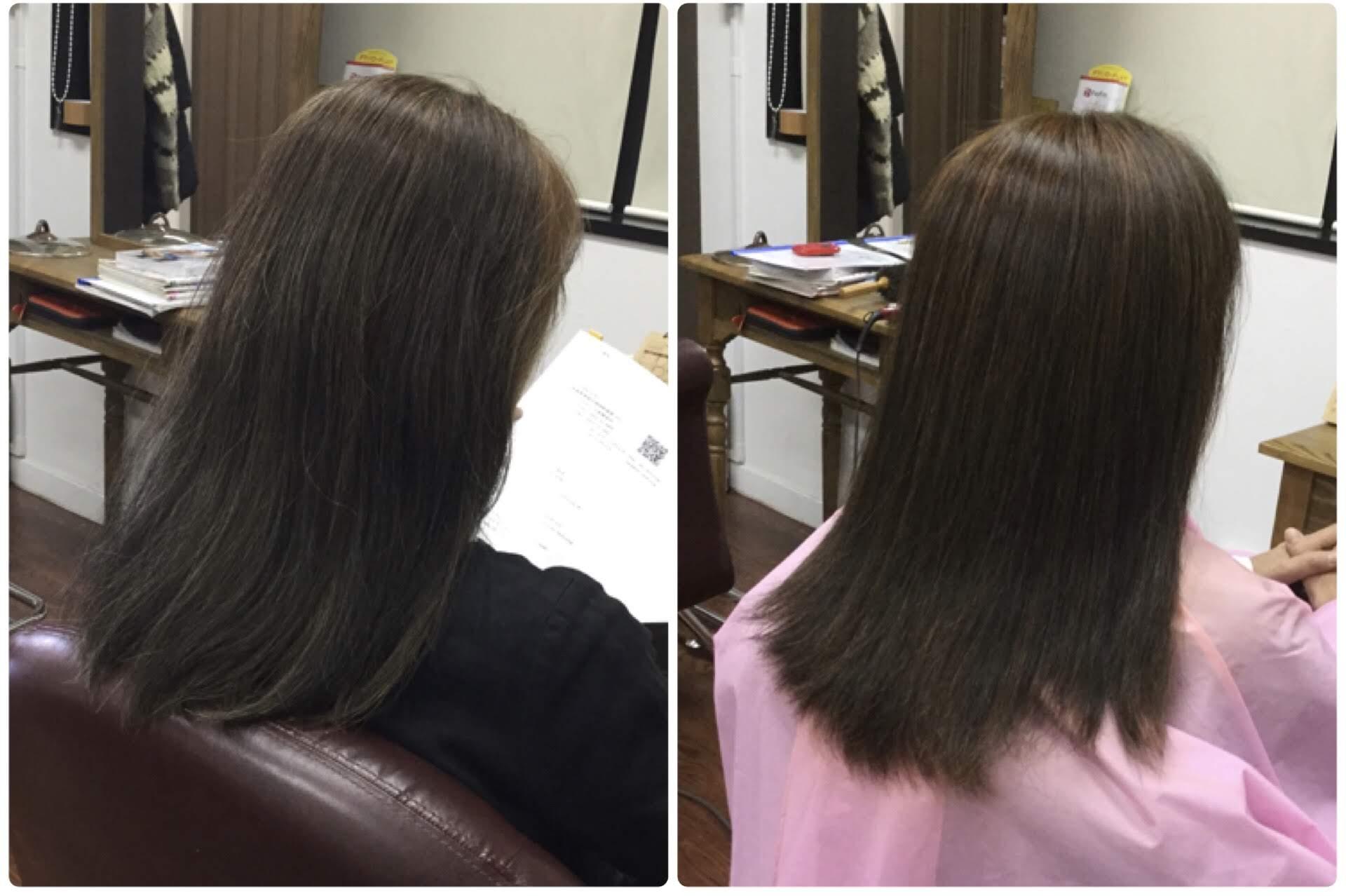 髪に頭皮に身体の健康を考え『天然100%ヘナで染めているから真っ黒なの』