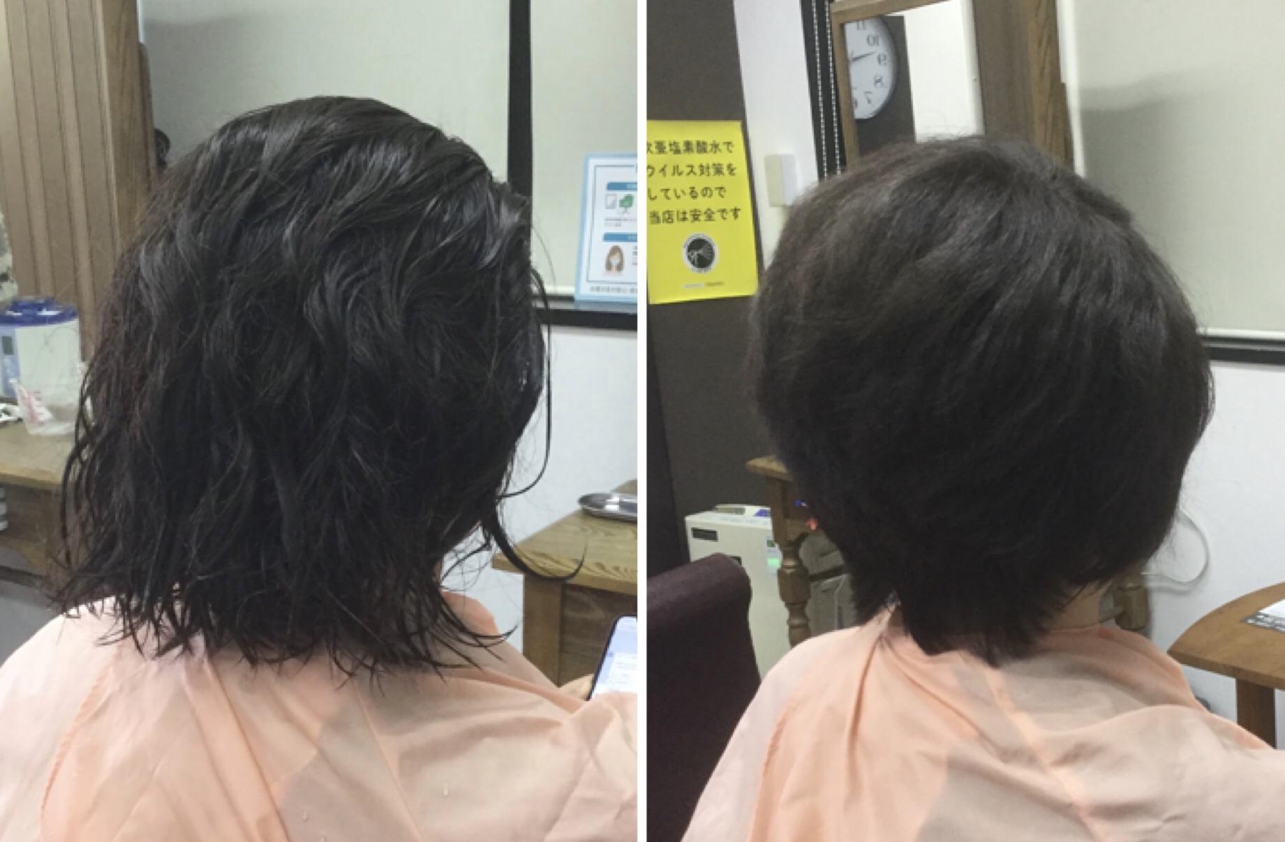 髪質改善カラー?ゴワゴワした手触りが柔らか質感からキュビズムカット®︎で脱縮毛矯正へ
