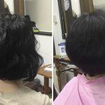 縮毛矯正を止めキュビズムカット®︎で短くショートボブに神戸摂津本山美容室アバディ