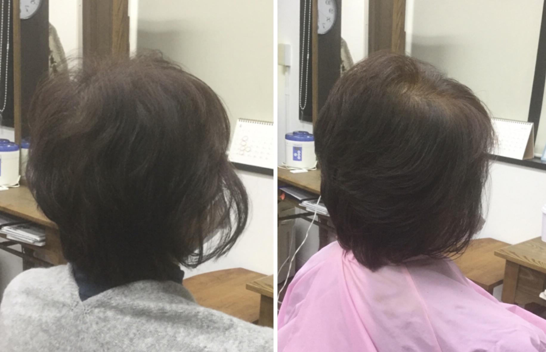前回の施術から2週間でも髪に頭皮に身体も健康的に施術出来る国産100%美らヘナ®︎は神戸摂津本山美容室アバディ