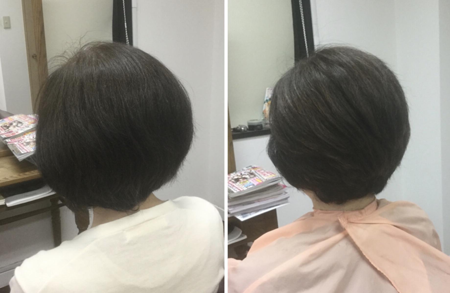 ゴワゴワした髪質でもキュビズムカット®︎で収まり良くする神戸摂津本山美容室アバディ