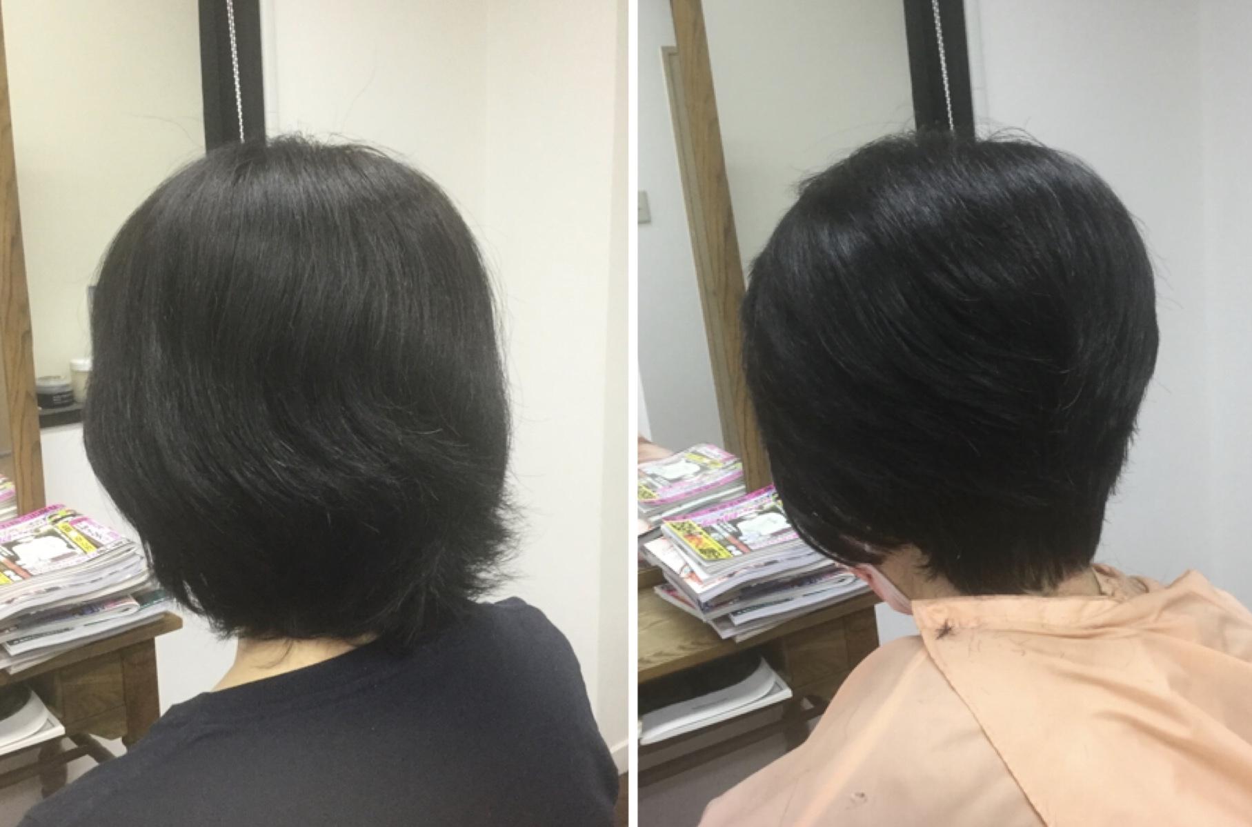 くせ毛多毛でも梳かずに毎日を楽なスタイルにするキュビズムカットの神戸本山美容室アバディ