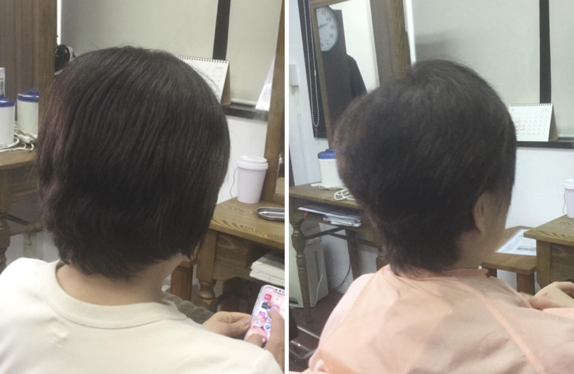 私キュビズムカット®︎で縮毛矯正やめます!神戸摂津本山美容室アバディ