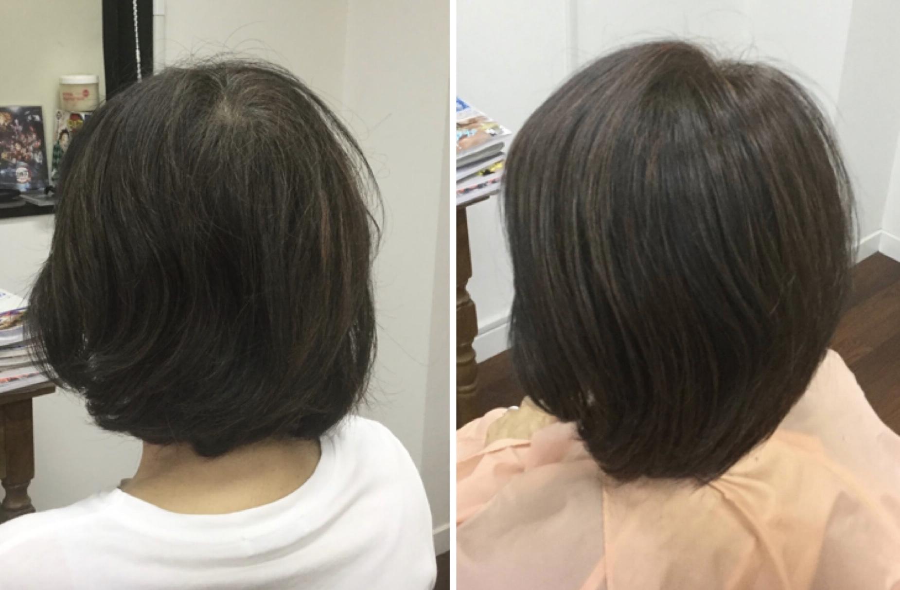 ツムジの割れをキュビズムカット®︎で解消する神戸摂津本山美容室アバディ